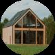 Drewniany domek - nowoczesna stodoła